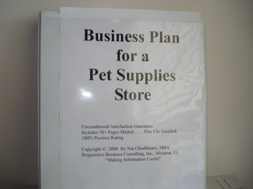 pet products business plan