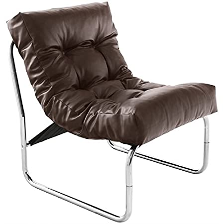 Sillón diseño ISERE en simil cuero (marrón)