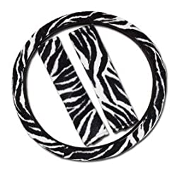 Zebra Steering Wheel Cover / Shoulder Pad