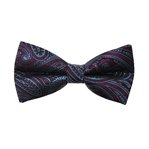DBD7B18D Black Blue Purple Patterned Microfiber Males Bow Tie Creative For Dad Pre-tied Bow Tie By Dan Smith (Creative Bow Ties compare prices)