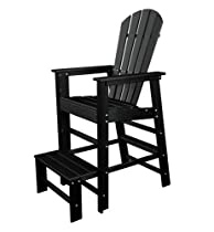 Big Sale POLYWOOD SBL30BL South Beach Lifeguard Chair, Black
