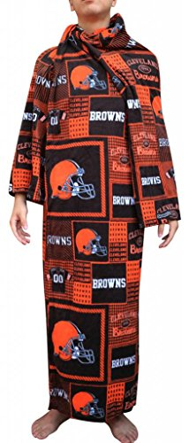 Cleveland Browns NFL Computer Blanket folds into Couch Pillow