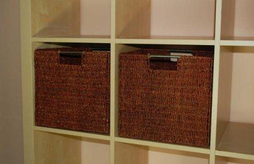 vivanno 2 regalk rbe aus seegras f ikea expedit bonde braun. Black Bedroom Furniture Sets. Home Design Ideas