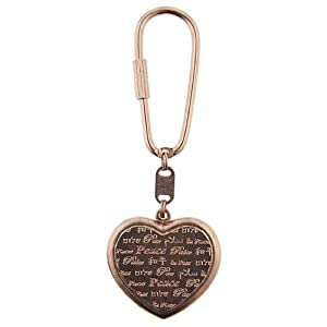 1928 Jewelry Rose Gold Tone Vintage-Inspired Heart Key Ring