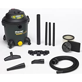 Shop-Vac 9631200 12-Gallon 4.5-Peak HP Detachable Blower Wet/Dry Vacuum