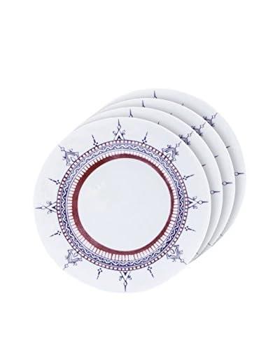 Padma Collection Minakari 8″ Salad Plates, Plum/Berry, Set of 4