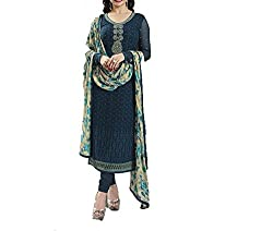 Hetal's Boutique Women's Georgette Unstitched Dress Material_73_Multicolored_Freesize