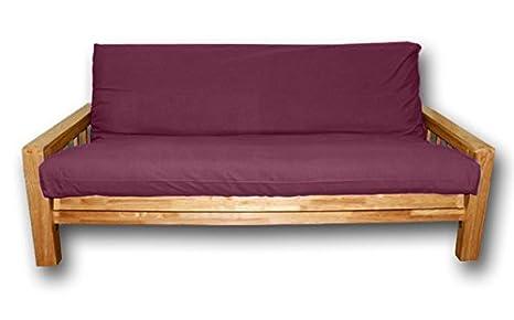Canapé lit Vienna , housse bordeaux, 200x140x30 cm