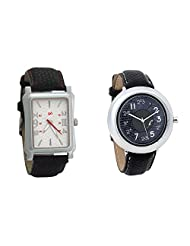 Gledati Men's White Dial And Foster's Women's Black Dial Analog Watch Combo_ADCOMB0001785