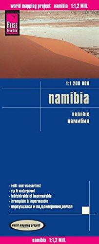 Namibia, mapa impermeable de carreteras. Escala 1:1.200.000 impermeable. Reise Know-How.