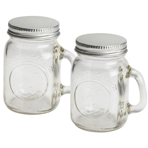 Olde Thompson 3771-G Mason Jar Salt & Pepper Shaker Set