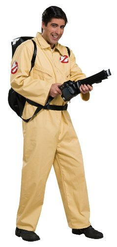 Ghostbusters Deluxe Jumpsuit, Beige, One Size Costume