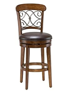 Hillsdale Furniture 4299-830 Bergamo Swivel Bar Stool, Distressed