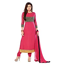 Krishna Present All New wedding Wear Embroidered Pink Color Dress Meterial.