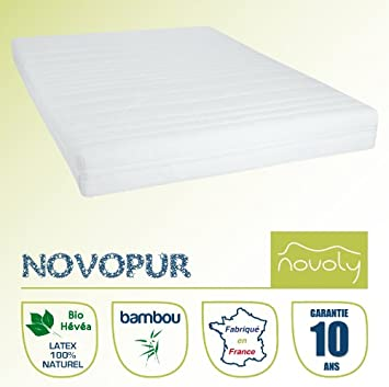 matelas latex 100 100 naturel 160x200 novopur cuisine maison m286. Black Bedroom Furniture Sets. Home Design Ideas
