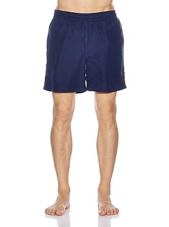 Polo Ralph Lauren Homme Hawaiian Boxer Swim Shorts, Bleu, Small