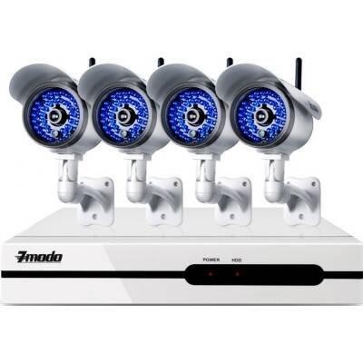 Zmodo Kns4-Iasfz4Zn-1Tb 1Tb Hdd 4Channel Ntw Nvr System W/ 4 Wireless Ip Camera