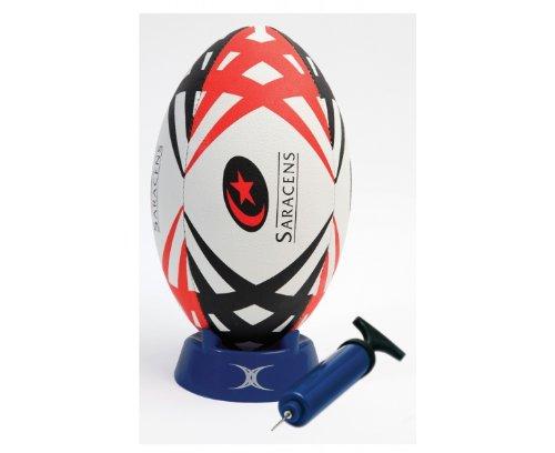 GILBERT Saracens Replica Starter Pack Rugby Ball