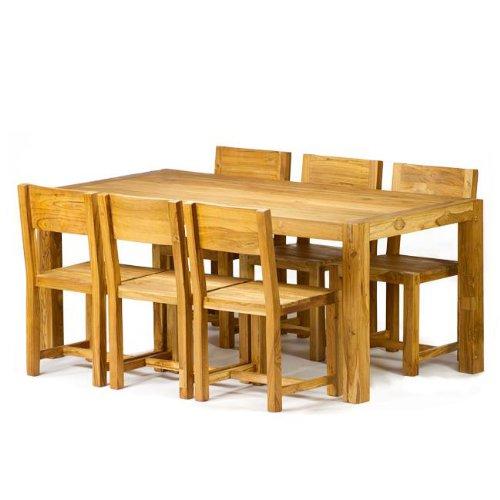 7 Piece Reclaimed Teak Dining Set (India)