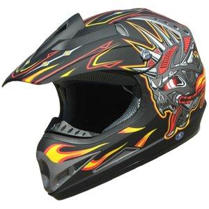 Buy Low Price Adult DOT ATV Motocross Helmet 192 Matt Bk/Yellow size XL (B003YSNA3O)
