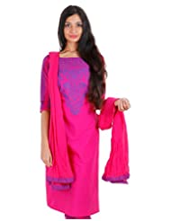 Magenta With Blue Printed Kurta From ESTYLe