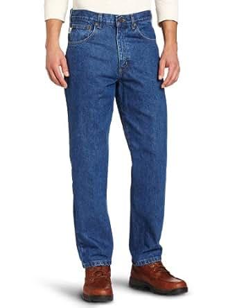 Carhartt Men's Relaxed Fit Five Pocket Tapered Leg Jean B17,Darkstone,28 x 30