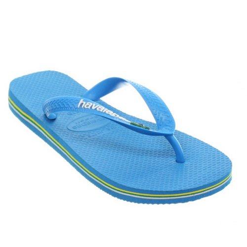 Womens Havaianas Brasil Logo Sky Blue Flip Flops