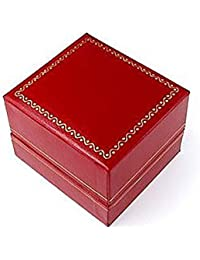 Classic Cartier Design Leatherette Red Ring Gift Box By Novel Box