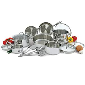 Wolfgang Puck Stainless Steel Cookware Set - 18 Pc