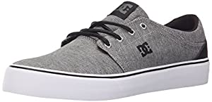 DC Trase TX SE Skate Shoe, Granite, 13 M US