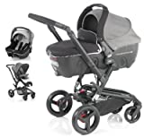 Jane Rider + Transporter + Strata Travel System - Shadow Black/Grey