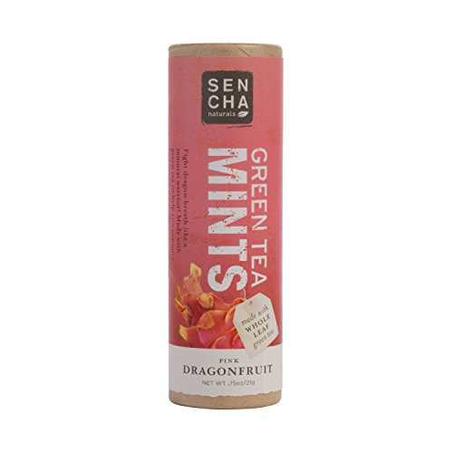 Sencha Naturals Green Tea Mints Tube, Pink Dragonfruit, 0.75-Ounce Tube