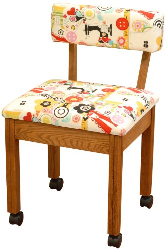Arrow Sewing Cabinets 2000 Sewing Chair for any Craft Room (Oak)