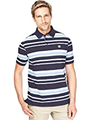 Blue Harbour Pure Cotton Varied Striped Polo Shirt