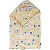Mee Mee MM-98023A Baby Warm Wrapper Cum Blanket With Hood (Yellow)