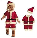 キュート な ミニ サンタ に変身 ♪ キッズ クリスマス 衣装 (12. 男の子・110cm)