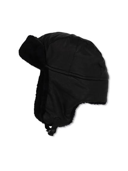 John Varvatos Star USA Men's Leather Bomber Hat