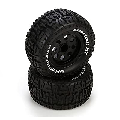 Ruckus Tire, Premount, Front/Rear, Black Wheel (2)