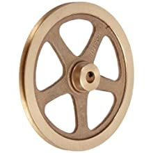 "Boston Gear G1220 Grooved Pulley, Fits Round Belts 0.1875"" or Smaller, 0.250"" Face, Brass"
