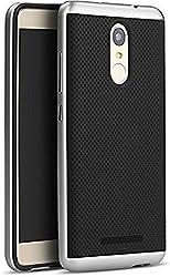 iPaky Premium TPU+PC Hybird Armor Protective Back Bumper Case Cover for Xiaomi Redmi Note 3 -Silver