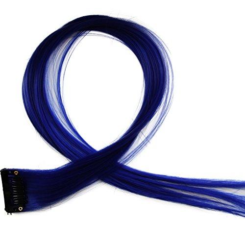 """Bunte Strähnchen 1 x Clip In Extensions 50cm (20"""") Haarverlängerung glatt langhaarHaarteil (5)"""