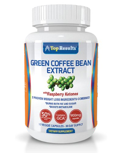 Pure Green Coffee Bean Extract 800mg Pills, GCA® (50% Chlorogenic Acid) Plus 100mg of Raspberry Ketones – Dr. Oz Recommended Natural Organic Ingredients – Ultra Quick Weight Loss Supplements – Lose Weight Fast With 90 Max Strength Fat Burner Diet Pills – GUARANTEED