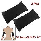 2 Pcs Calorie Off Massage Slimming Arms Shaper Black
