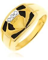 Bague - 9 - RC076DI - Homme - Or jaune (9 carats) 4.1 Gr - Diamant 2.83 Cts