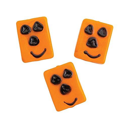 Glass Pumpkin Square Beads-1Dozen
