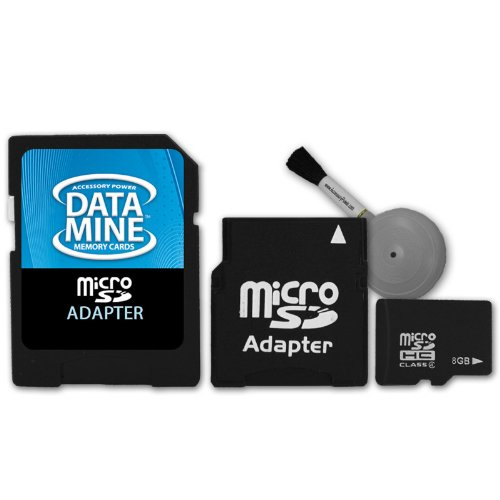 Blazing 8GB MicroSD Memory Card with MiniSD & StandardSD Adapters for Barnes&Noble nook / nook color ***Includes Blower Cleaning Brush***