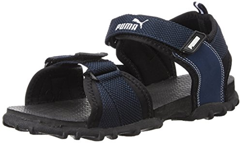 Puma Men's Black and Blue Sandals and Floaters - 7 UK/India (40.5 EU)