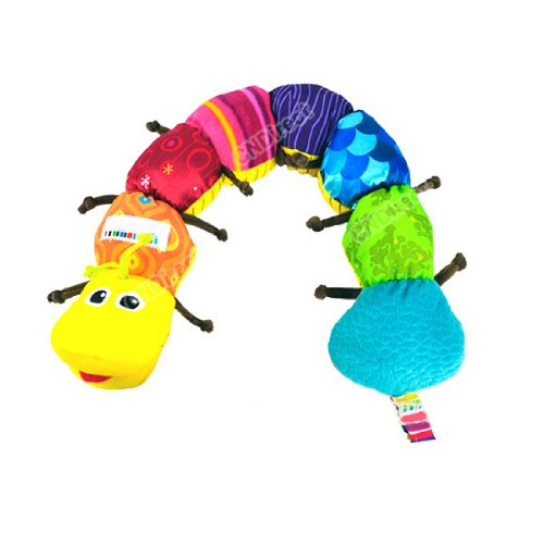 Eozy 61.5 X 10cm(l X W) (Approx) Colorful Musical Toy Inchworm Soft Lovely Lamaze Developmental Classical Style Plush for Baby Educational Infant Cute Activity