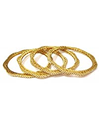 Shingar Jewellery Ksvk Jewels Antique Gold Plated Bangles Set For Women (9279-m-c-p)