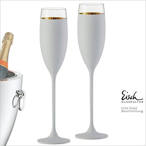 Eisch Champagne Exklusiv or/blanc-180ml-Lot de 2Eisch verres dans un coffret cadeau-du fabricant primé Verre No 1-Niche Eisch